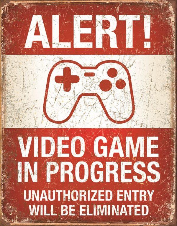 Alert video game in progress
