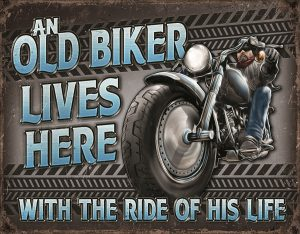 An Old Biker Lives Here - With The Ride Of His Life
