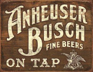 Anheuser Bush Fine Beers On Tap