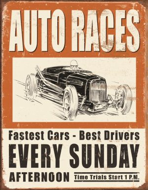 Auto Races Every Sunday Afternoon - Fastest Cars Best Drivers