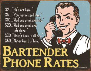 Bartender Phone Rates