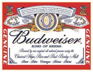 Budweiser King of Beers - New Looking Red Label - Beer, Bier, Cerveza, Birra, Bier