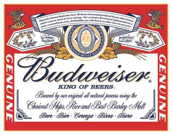 Budweiser King of Beers - New Looking Red Label - Beer, Bier, Cerveza, Birra, Bier