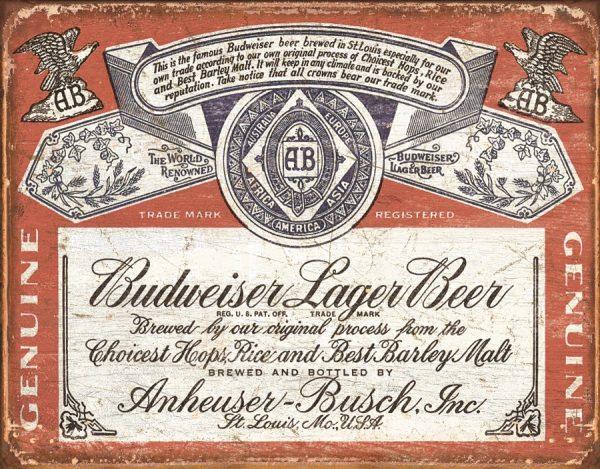 Budweiser Lager Beer Logo (Rustic)