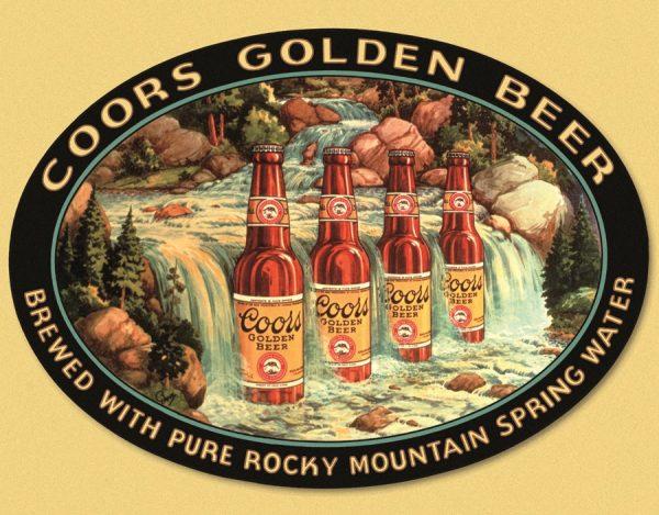 Coors Golden Beer (Waterfall)