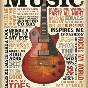 Music (Guitar) With Sayings