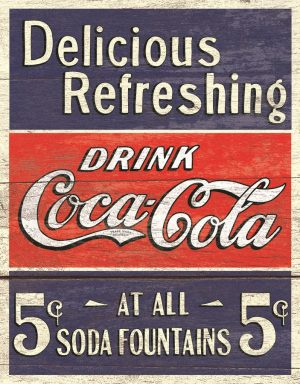 Delicious Refreshing Drink Coca Cola 5 Cents At All