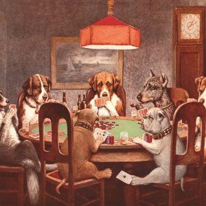 Dogs Playing Poker #2