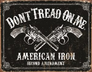 Don't Tread On Me American Iron Second Amendment