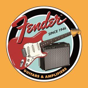Fender Guitars & Amplifiers Since 1946 (Round)