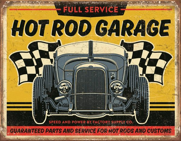 Full Service Hot Rod Garage Speed And Power By Factory Supply Co.