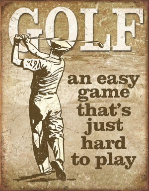 Golf - An Easy Game That's Hard To Play