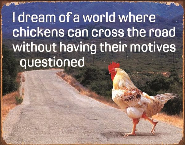 I Dream Of A World Where Chickens Can Cross The Road