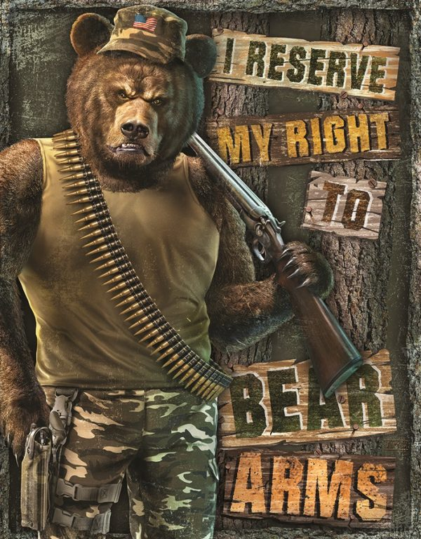 I Reserve My Right To Bear Arms (Bear In Camo)