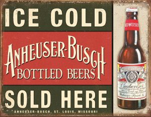 Ice Cold Anheuser - Busch Bottled Beers Sold Here