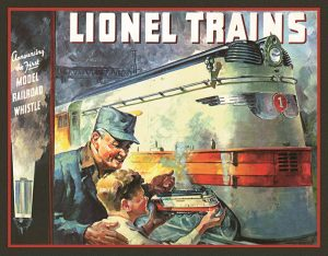 Lionel Train 1935 Cover (Man And Boy Holding Train)