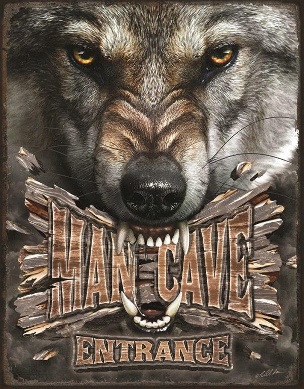 Mancave Entrance (Wolf)