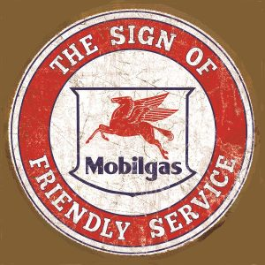 Mobile Gas The Sign Of Friendly Service (Round)