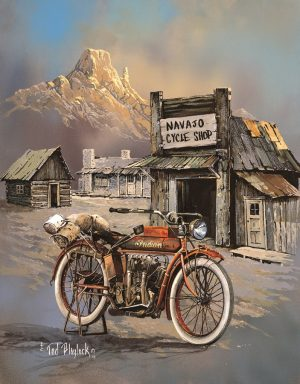 Old Apache Motorcycle - Outside Of Navajo Cycle Shop