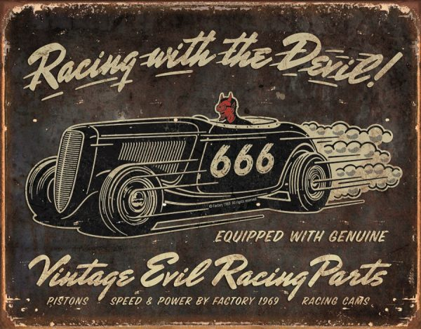 Racing With The Devil - Vintage Evil Racing Parts
