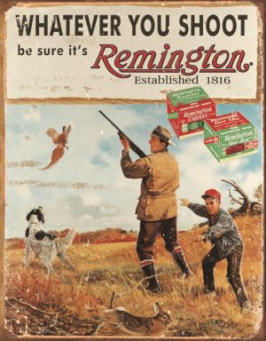 Remington - Whatever You Shoot (Man And Boy Shooting In Field)