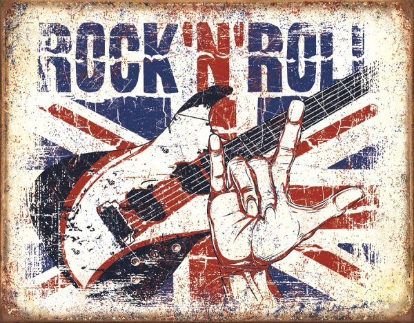 Rock 'N' Roll (Red, White And Blue) With Love Sign