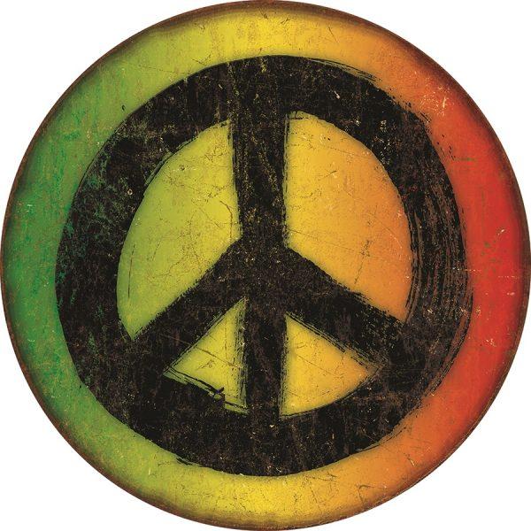 Round Peace (Rasta) Tye Dyed