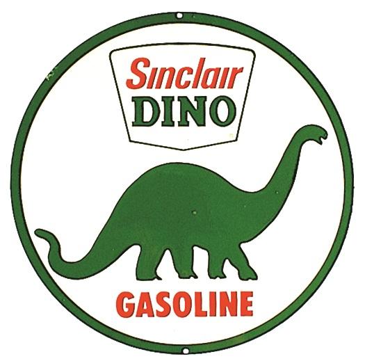 Round Sinclair Dino Gasoline