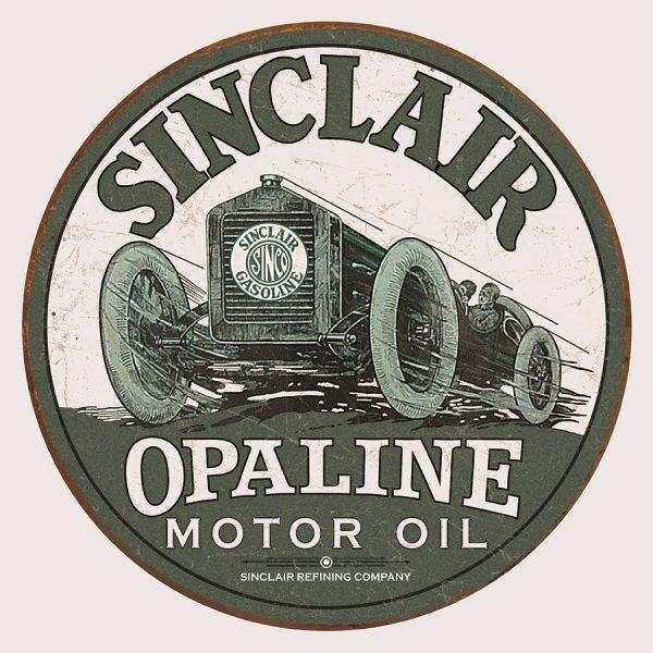 Round - Sinclair Opaline Motor Oil