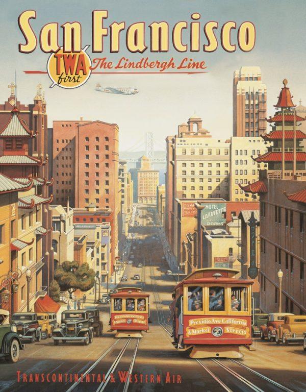 San Francisco - TWA First - The Lindberg Line