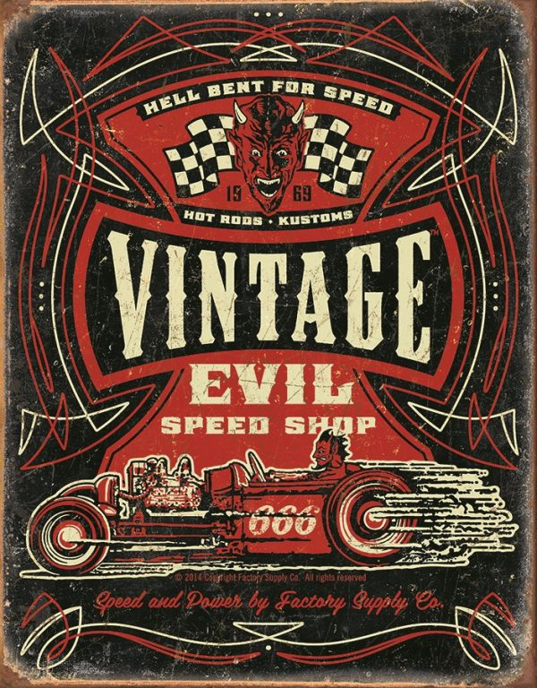 Speed Demon Vintage Evil Speed Shop