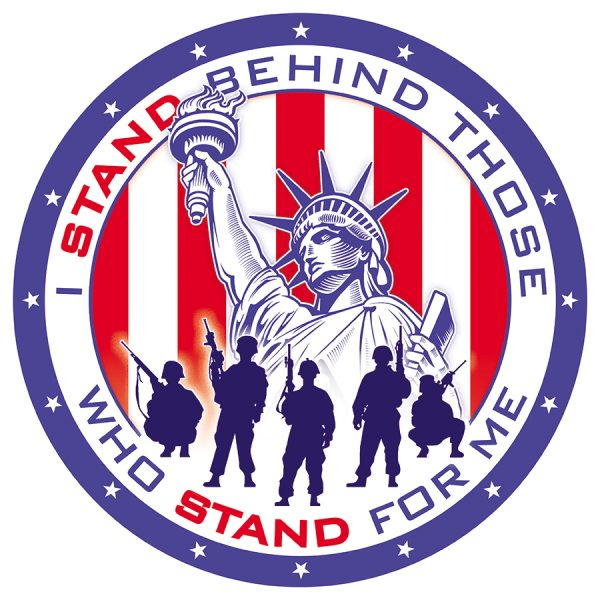 Stand Behind Those Who Stand Behind Me - Round
