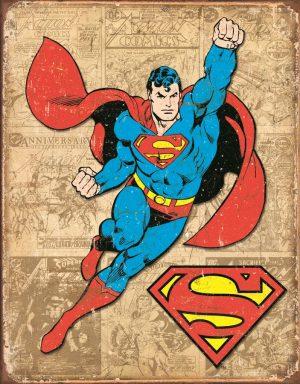 Superman w/ Tan Background