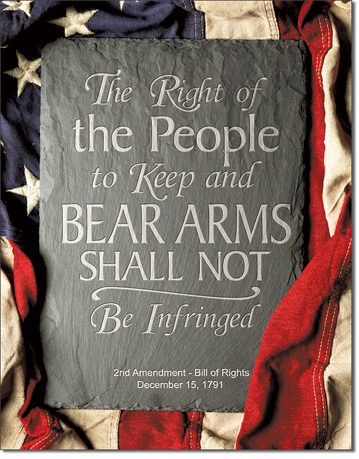 The Right of the People to Keep and Bear Arms Shall not be Infringed