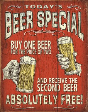 Today's Beer Special - Buy One For The Price Of Two