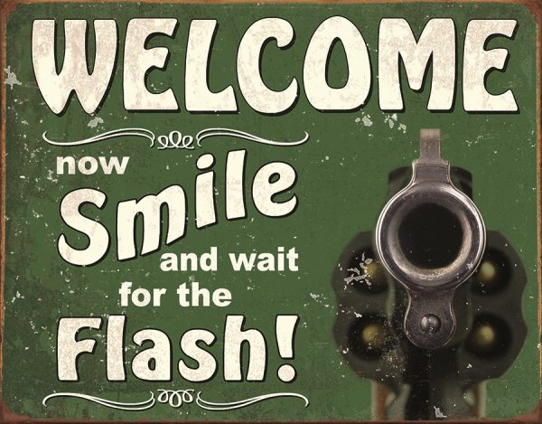 Welcome Now Smile And Wait For The Flash