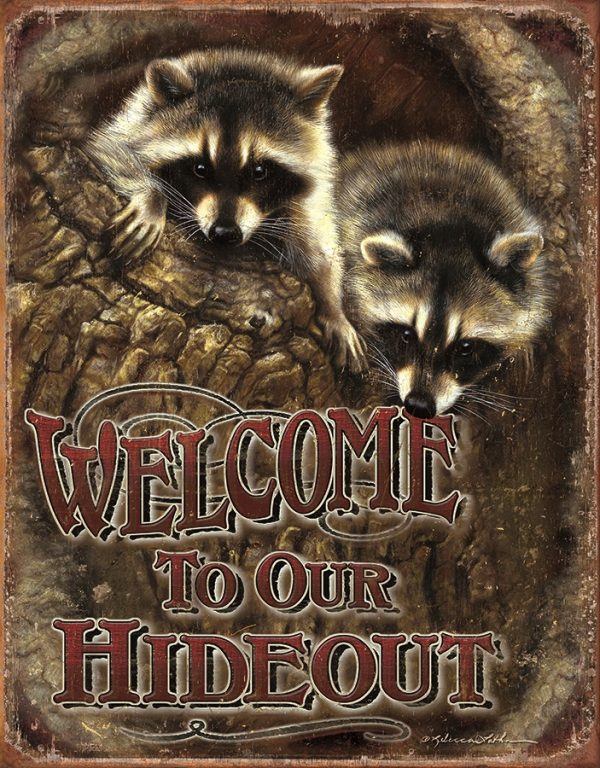 Welcome - To Our Hideout (Raccoons)
