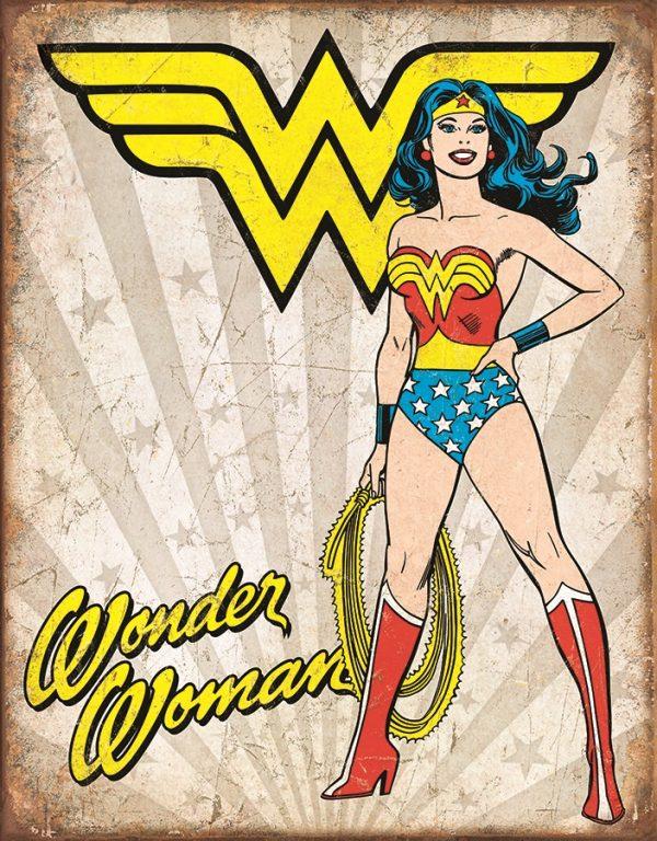 Wonder Woman (Tan Background) (Heroic)