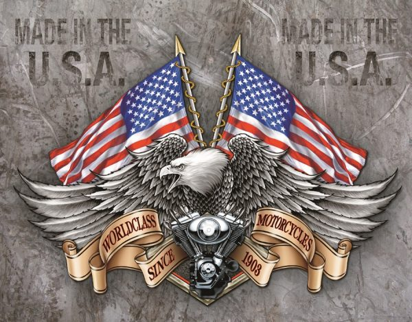 World Class Motorcycles Since 1908 - Made In The U.S.A. (Eagle)