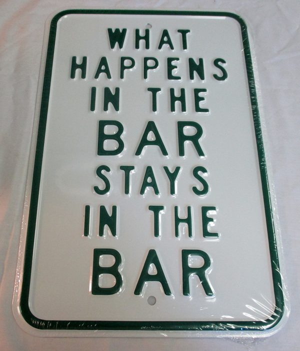 What Happens in The Bar Stays In The Bar